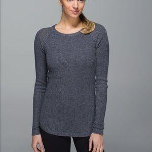 Lululemon Cabin Yogi Sweater Heathered Medium Grey